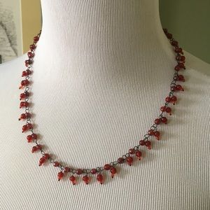 Jewelry - Statement Necklace with Red Beads